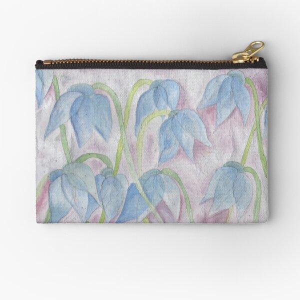 Blue flowers Zipper Pouch