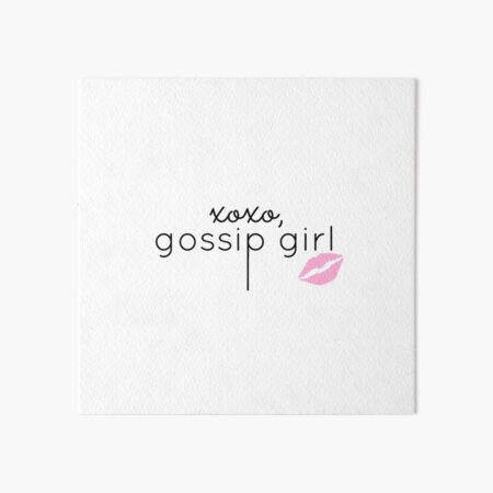 Gossip Girl design Art Board Print