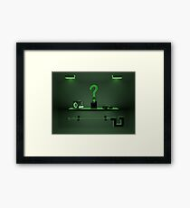 Riddler Collection  Framed Print
