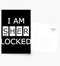 I Am SHERlocked Postcards