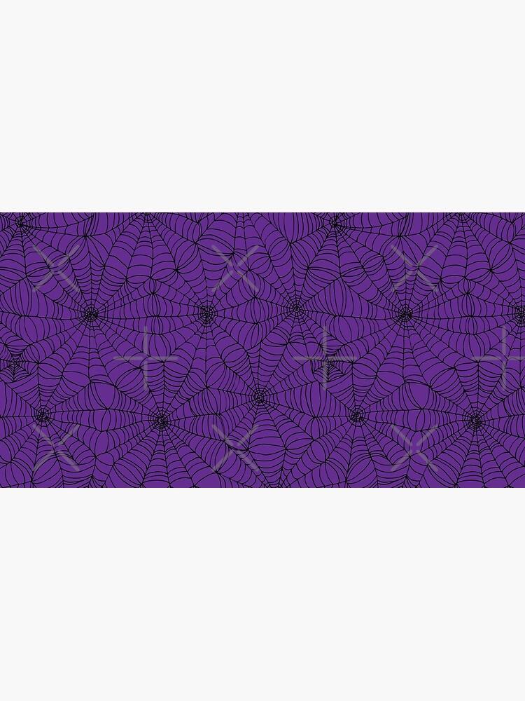 Spider web pattern - purple and black - Halloween pattern by Cecca Designs by Cecca-Designs