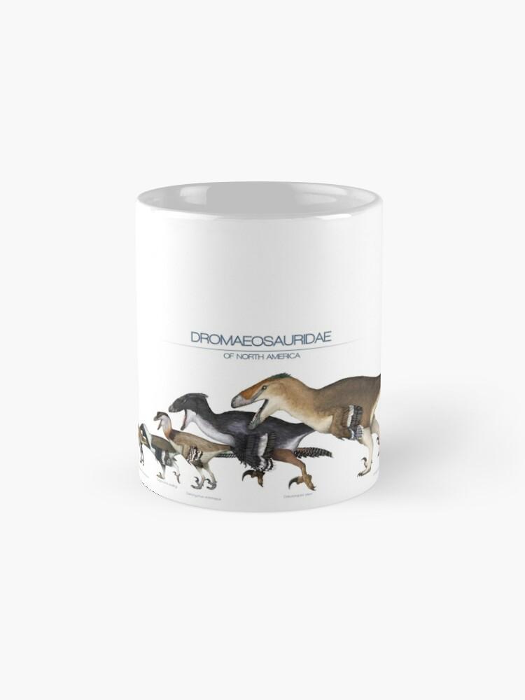 Alternate view of Dromaeosaurid Dinosaurs of north America Mug