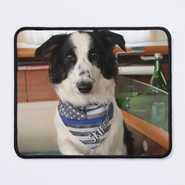 Skipper Backing the Blue Mouse Pad