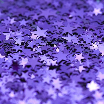Purple star glitter by welovevintage