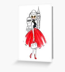 London Background Greeting Card