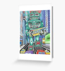 Retro Robot - Robots, Space Greeting Card