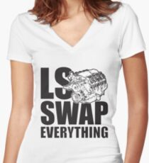 LS Swap Everthing Fitted V-Neck T-Shirt