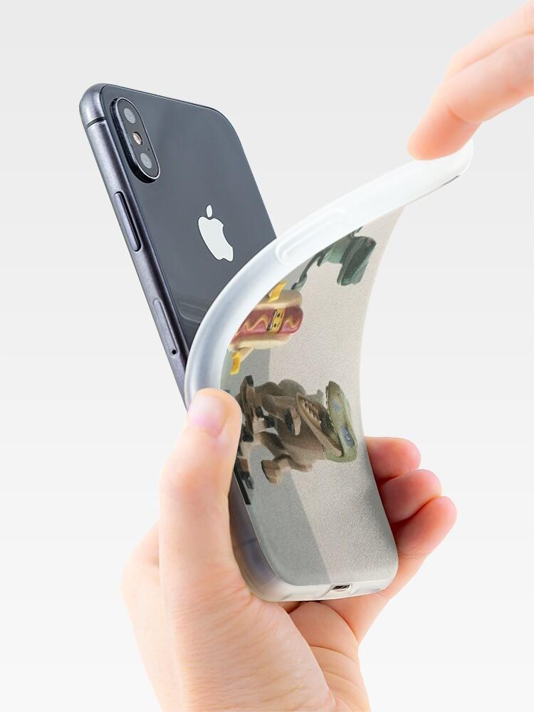 Vista alternativa de Funda y vinilo para iPhone Almuerzo de cogida