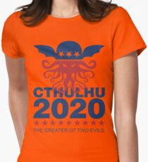 Vote Cthulhu 2020 Womens Fitted T-Shirt