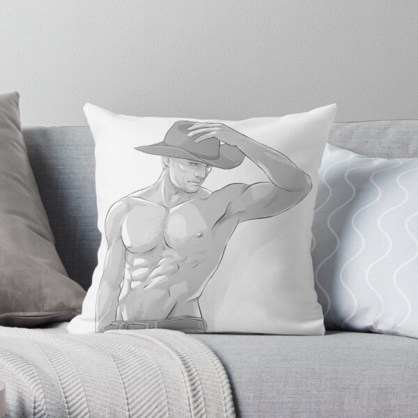 Cowboy!Cullen Throw Pillow