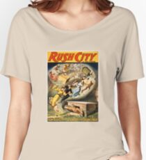 Vintage Rush City Tornado via Cyclone's Wave Women's Relaxed Fit T-Shirt
