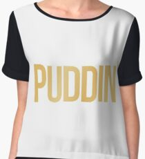 PUDDIN' Women's Chiffon Top