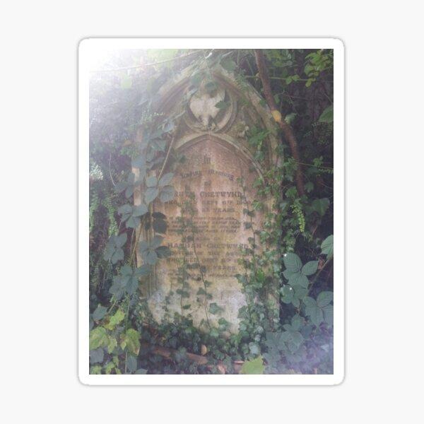 St Paul's Church Nuneaton Forgotten Grave Sticker