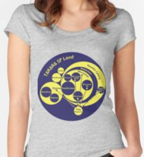 A Phylogeny of Robots: Blue-Yellow Women's Fitted Scoop T-Shirt