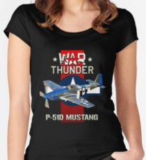 War Thunder P-51 Mustang  Women's Fitted Scoop T-Shirt
