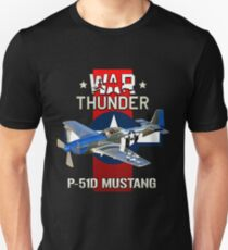 War Thunder P-51 Mustang  T-Shirt