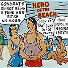Funny Comic Book Ads: Hero of the Beach by tommytidalwave