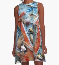 Anchor-Shell Art A-Line Dress