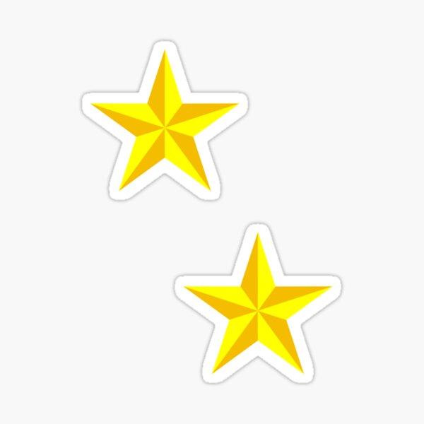 Yellow & Gold Star - Large Sticker