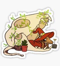 Crested Gecko - Nerd Sticker
