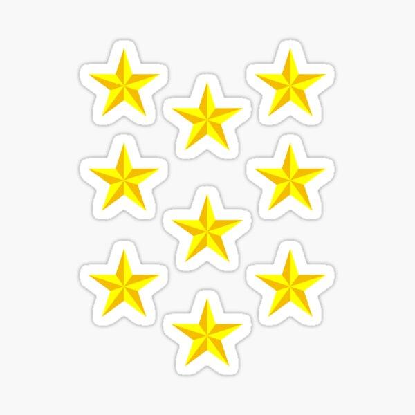 Small Stars - yellow gold Sticker