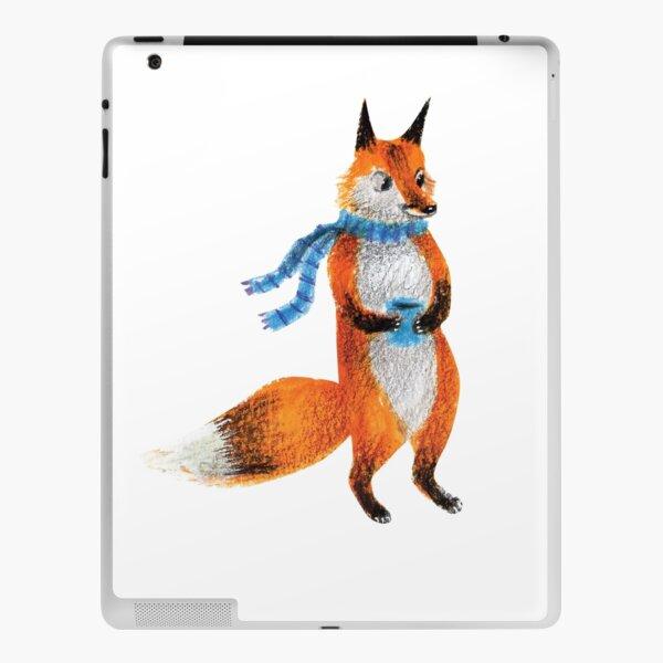 Fox in Blue Scarf iPad Skin