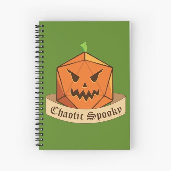 Chaotic Spooky Pumpkin Spiral Notebook