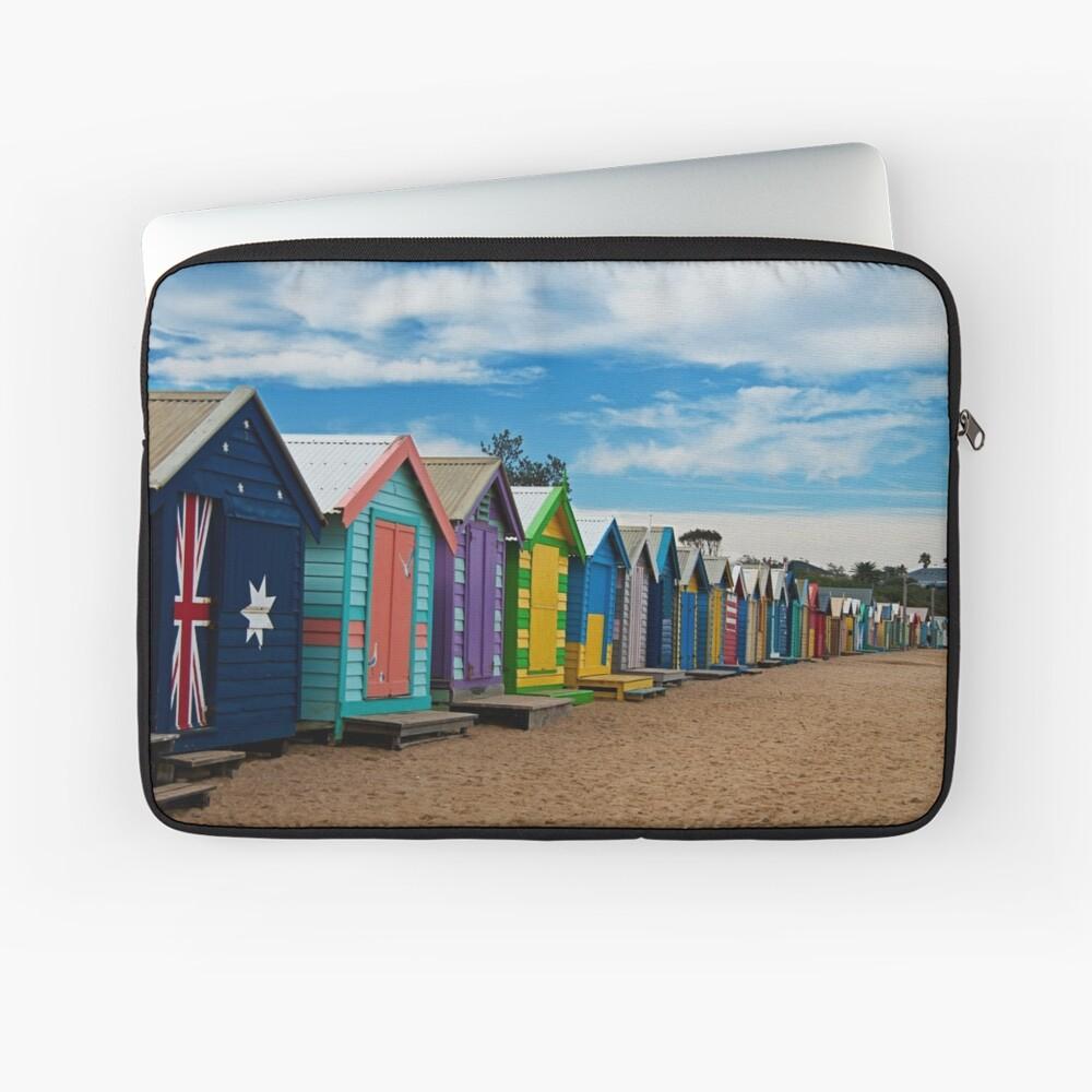 BRIGHTon Beach Boxes - Melbourne Laptop Sleeve