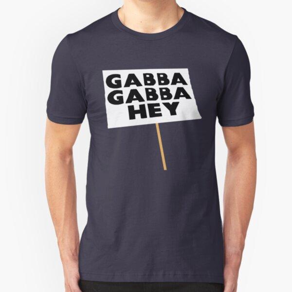 Gabba Gabba Hey Sign Slim Fit T-Shirt