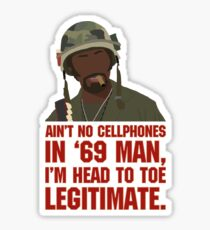 Aint no cellphones in 69 man... Sticker
