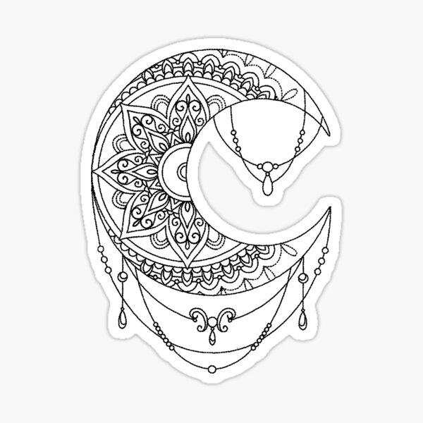 Chandelier Moon Sticker