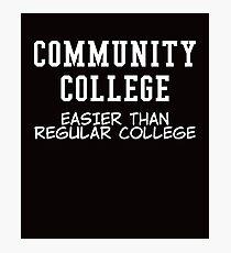 community college white  Photographic Print
