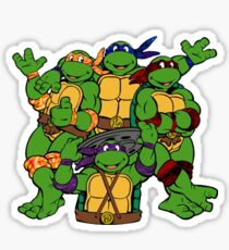 Teenage Tripping Turtles  Sticker