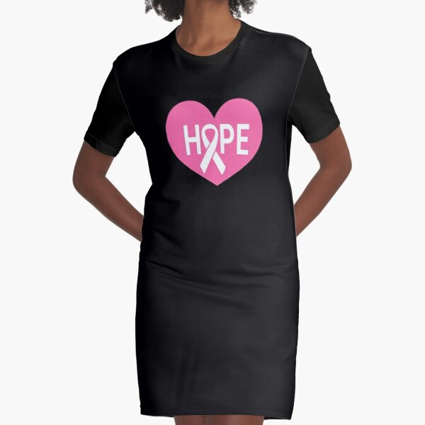Breast cancer awareness month Breast cancer awareness gifts pink October   Graphic T-Shirt Dress