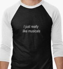 Camiseta ¾ bicolor para hombre Me encantan los musicales
