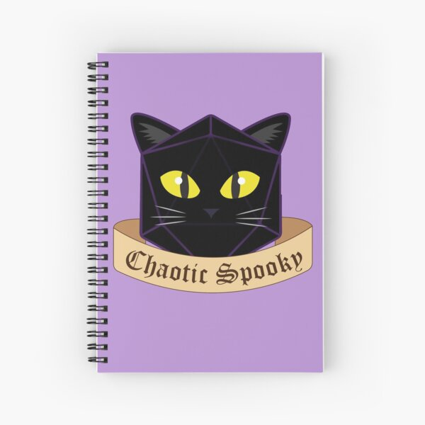 Chaotic Spooky Cat Spiral Notebook