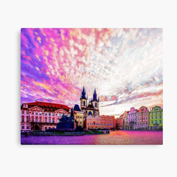 Prague Old Town Square Abstraction Metal Print