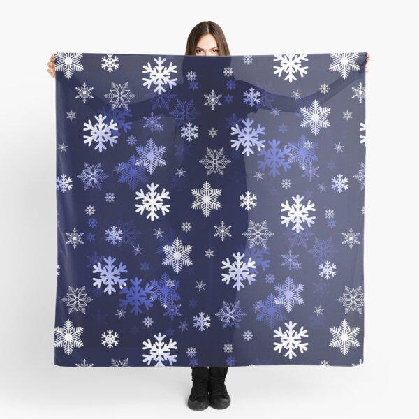 Dark Blue Snowflakes Scarf