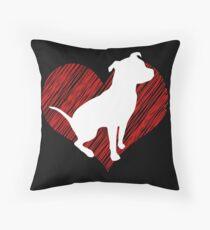 Gift for Pitbull lovers I love Pittbull Throw Pillow