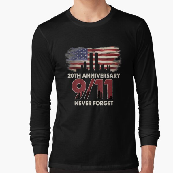 United States 20th Anniversary Patriot Day Beautiful Flag   Long Sleeve T-Shirt