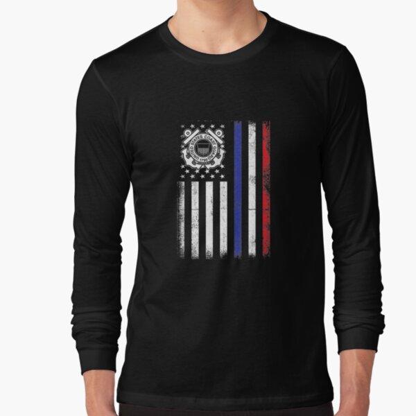 Patriot Us Coastguard Coast Guard 4th July Independence Day   Long Sleeve T-Shirt