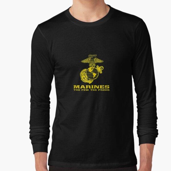 Marine Distressed Logo The Few The Proud Tank Top  Long Sleeve T-Shirt