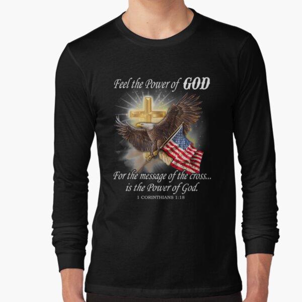 Eagle Flag Usa Christian Patriot One Nation Under God   Long Sleeve T-Shirt