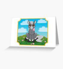 Flower Pony Greeting Card