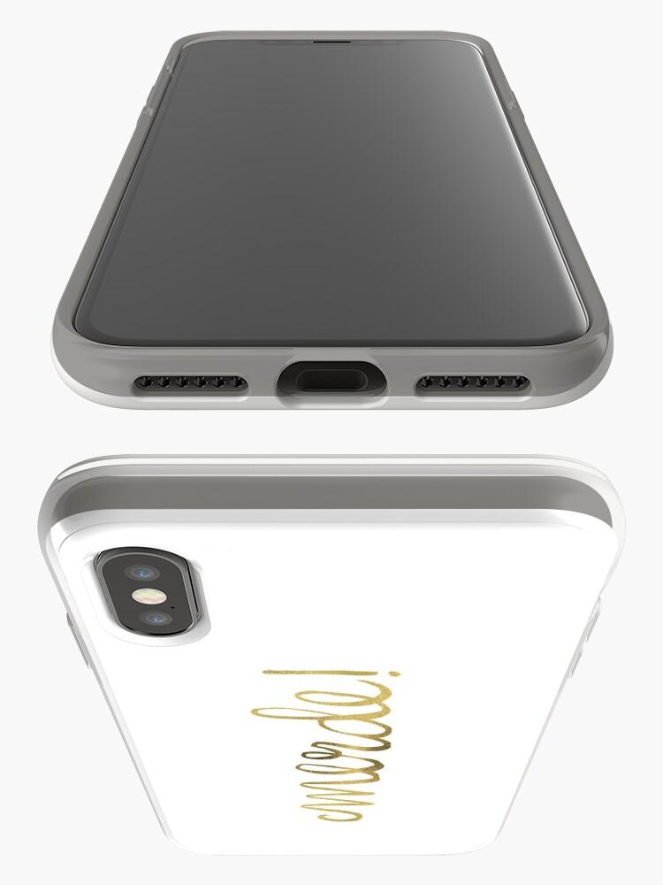 Alternative Ansicht von Entschuldigung mein Französisch - Gold Ink iPhone-Hülle & Cover