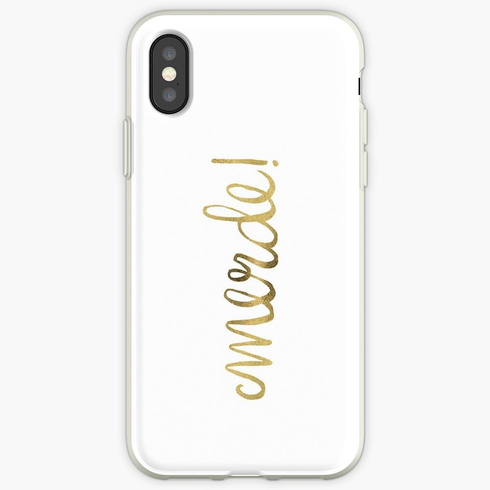 Entschuldigung mein Französisch - Gold Ink iPhone-Hülle & Cover
