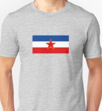Flag of Socialist Federal Republic of Yugoslavia Slim Fit T-Shirt
