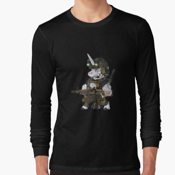 Tactical Unicorn Soldier Patriot Veteran Bundeswehr Einhorn Tank Top  Long Sleeve T-Shirt