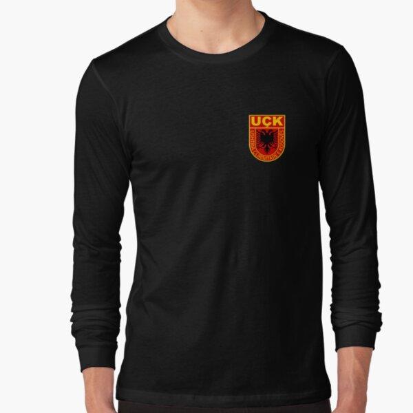 Albanian Kosovo Army Shirt Uck Uqk Patriot  Long Sleeve T-Shirt