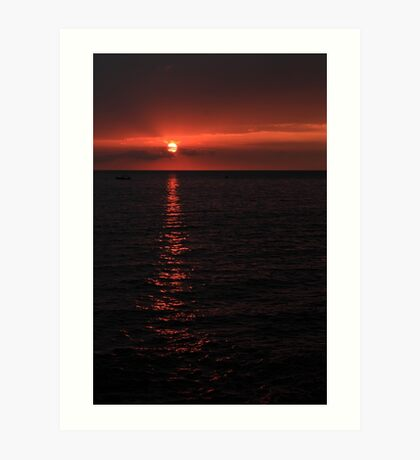 Kona Sunset Art Print